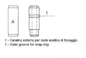Направляющая втулка клапана METELLI 01-1993