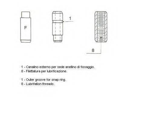 Направляющая втулка клапана METELLI 01-1370