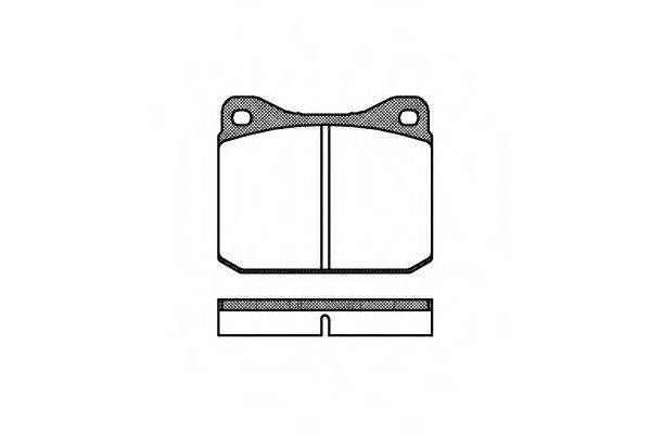 Комплект тормозных колодок, дисковый тормоз REMSA 0010.00