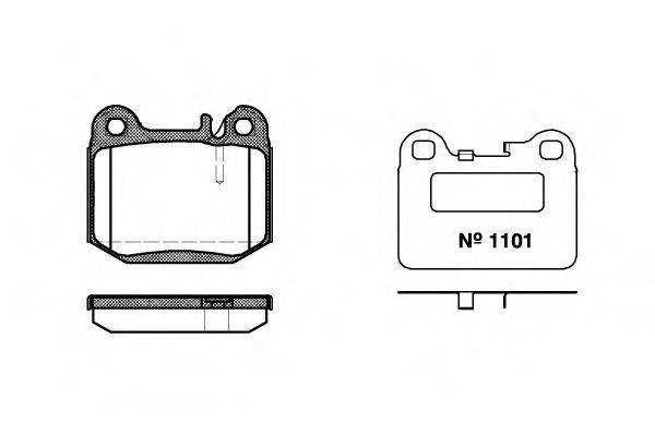 Комплект тормозных колодок, дисковый тормоз REMSA 0014.40
