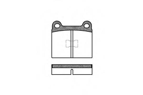 Комплект тормозных колодок, дисковый тормоз REMSA 0017.00