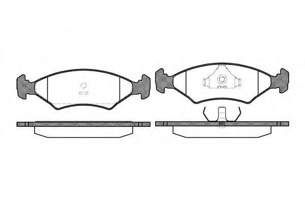Комплект тормозных колодок, дисковый тормоз REMSA 0119.20