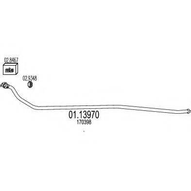 Труба выхлопного газа MTS 01.13970