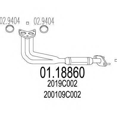 Труба выхлопного газа MTS 01.18860