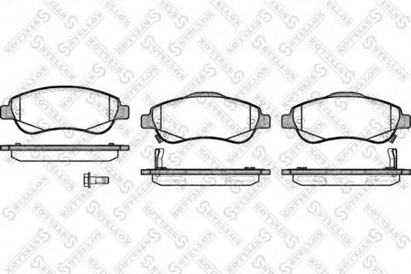 Комплект тормозных колодок, дисковый тормоз STELLOX 001 081B-SX