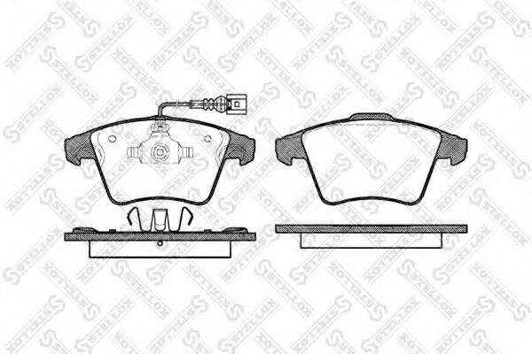 Комплект тормозных колодок, дисковый тормоз STELLOX 001 085B-SX