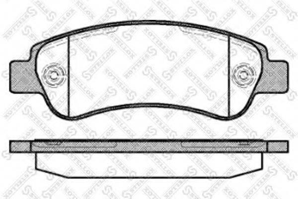 Комплект тормозных колодок, дисковый тормоз STELLOX 001 090B-SX
