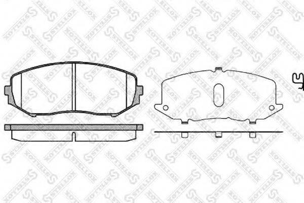Комплект тормозных колодок, дисковый тормоз STELLOX 001 097-SX
