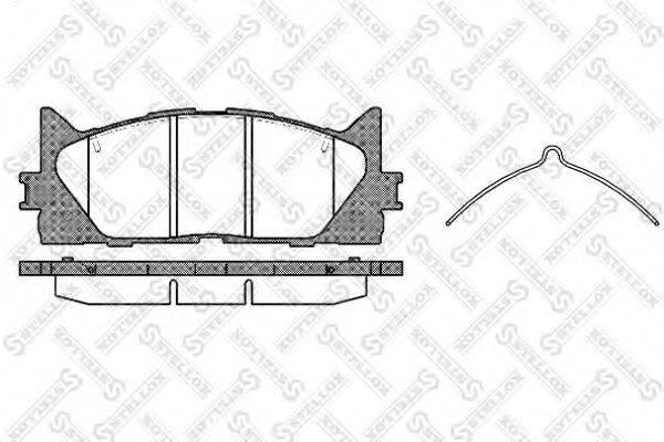 Комплект тормозных колодок, дисковый тормоз STELLOX 002 007-SX
