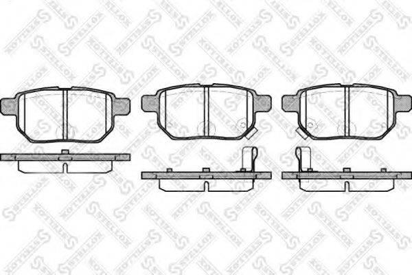 Комплект тормозных колодок, дисковый тормоз STELLOX 002 008-SX