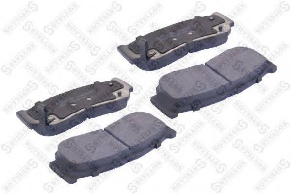 Комплект тормозных колодок, дисковый тормоз STELLOX 000 001B-SX