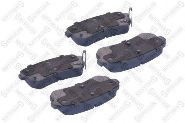 Комплект тормозных колодок, дисковый тормоз STELLOX 000 054B-SX