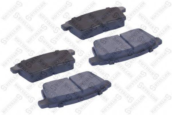 Комплект тормозных колодок, дисковый тормоз STELLOX 000 067B-SX