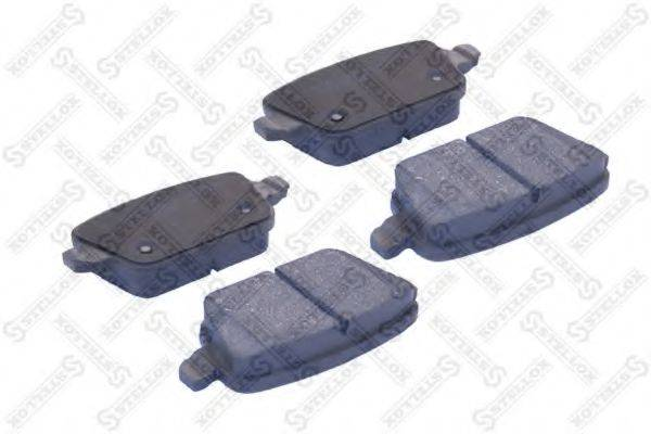 Комплект тормозных колодок, дисковый тормоз STELLOX 000 091B-SX