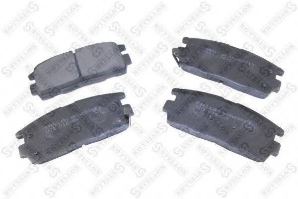 Комплект тормозных колодок, дисковый тормоз STELLOX 002 016-SX