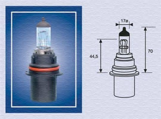 Лампа накаливания, фара дальнего света; Лампа накаливания, основная фара; Лампа накаливания MAGNETI MARELLI 002555200000