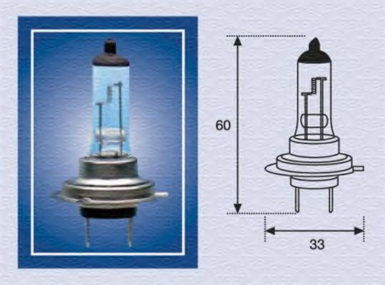 Лампа накаливания, фара дальнего света; Лампа накаливания, основная фара; Лампа накаливания, противотуманная фара; Лампа накаливания MAGNETI MARELLI 002558100000