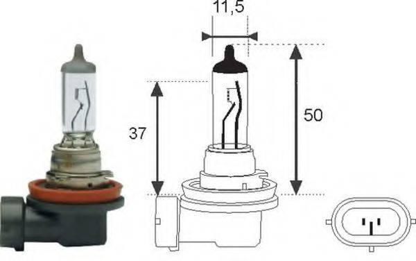 Лампа накаливания, фара дальнего света; Лампа накаливания, основная фара; Лампа накаливания MAGNETI MARELLI 002547100000