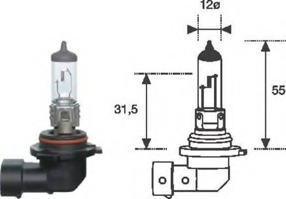 Лампа накаливания, фара дальнего света; Лампа накаливания, основная фара; Лампа накаливания MAGNETI MARELLI 002577300000